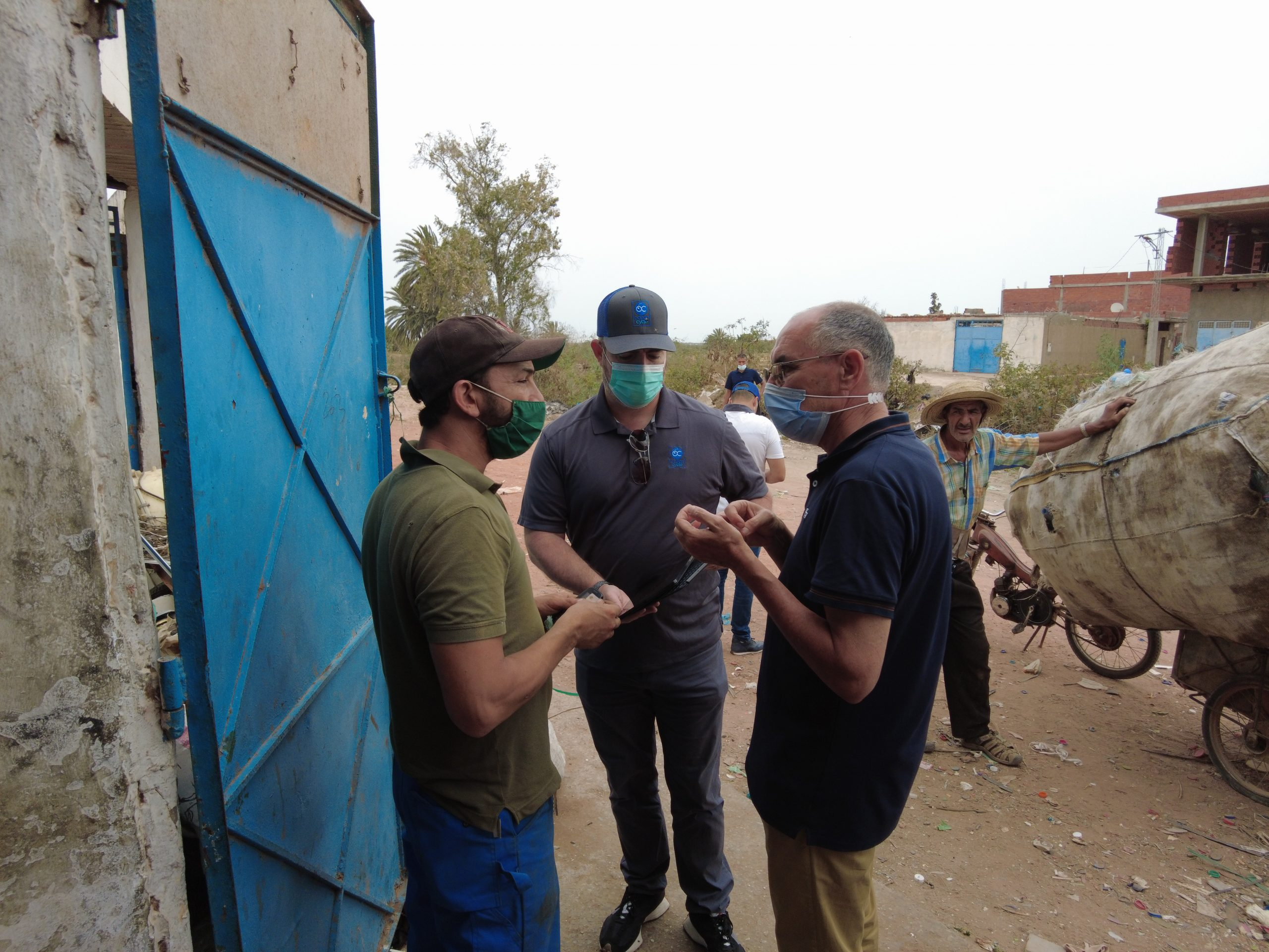 Jemmal, Tunisia: Our team speaks with the owners of the collection center